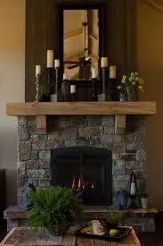 blue greys and rust colors permeate the natural montana rock fireplace greyed rough
