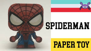Spiderman Template How To Make A Spiderman Paper Toy Papercraft Free Template By Gus Santome