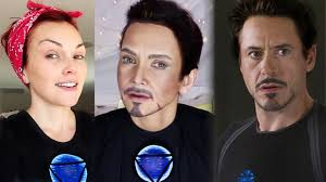 makeup artist and emma stone from to tony stark avengers transformation by kandee johnson you