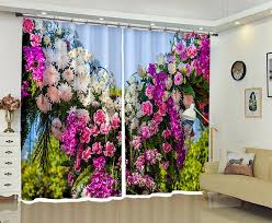 2018 customizable blackout curtains ds fresh flowers 3d print window decorate for living room bed room office hotel wall tapestr from georgen