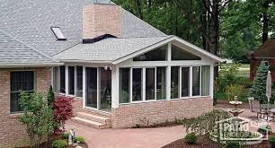 White Aluminum Frame All Season Room with Gable Roof