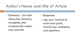 summary response essay ppt video online  author s and title of article