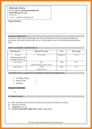 8 Fresher Resume Format Download In Ms Word Trinity Training