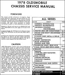 oldsmobile repair shop manual original all series this manual covers all 1978 oldsmobile models including cutlass supreme starfire delta eighty eight custom ninety eight omega toronado