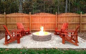 concrete patio ideas with fire pit designs
