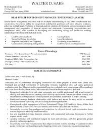 Real Estate Developer Resume Sample Resume Cv Cover Letter