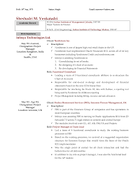 Oracle Financial Consultant Resume Perfect Resume