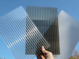 image of clear corrugated plastic roofing sheets