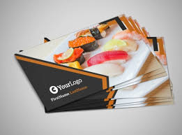 Business Card For Restaurant Outstanding Sushi Restaurant Business