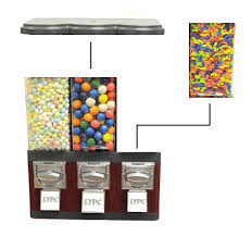 Candy Vending Machines Extraordinary Triple Pod Candy Vending Machine Without Stand