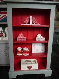 painted red furniture. painted bookcase in polar blue and library red chalk paint httpwww furniture s