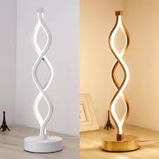Spiral Led Light 24w Modern Spiral Twist Wave Design Led Table Light Desk Reading Lamp
