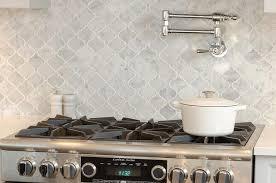 gray marble arabesque cooktop backsplash tiles