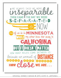 Long Distance Friendship Quotes Interesting Long Distance Friendship Quote Print Best Friend Long Distance