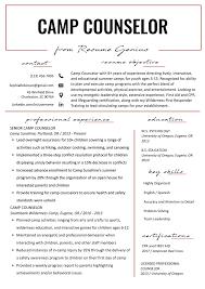 First Resume Sample Camp Counselor Resume Sample Tips Resume Genius