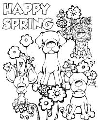 Coloring Page Spring Spring Flower Coloring Pages Spring Colouring