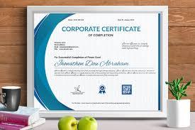 Corporate Certificate Template Certificate Template Vol 24 Stationery Templates Creative Market 12