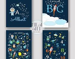 outer space nursery. Contemporary Nursery Outer Space Nursery Decor Boy Set Of 4 Prints Printable Alphabet  Themed ABC Wall Art Dream Big Rocket Ship For