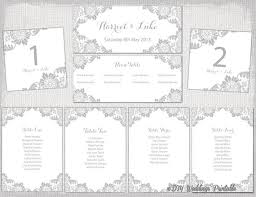Wedding Seating Chart Template Word Pin On Products