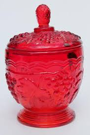 red glass concord vintage g pattern imperial glass candy dish w gs