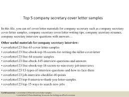 Ideas Of Cover Letter Company Secretary With Top 5 Pany Secretary