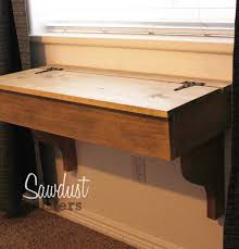 diy floating desk vanity with storage tutorial by sawdustsisters com