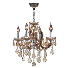 worldwide lighting catherine collection 4 light polished chrome with amber crystal chandelier
