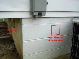 dryer vent through wall. Modren Dryer New Hole For Dryer Vent In Cinder Blockspicbjpg For Dryer Vent Through Wall