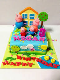 Order Peppa Pig Family Cake Online Birthday Cake In Hyderabad