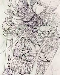 картинки по запросу самурай тату эскиз япония на рукав Tattoos
