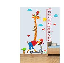 Amazon Com Giraffe Child Height Chart Vinyl Wall Chart 3d