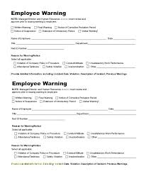 Employee Warning Form Free Employee Warning Notice Template Free Employee Warning Notice