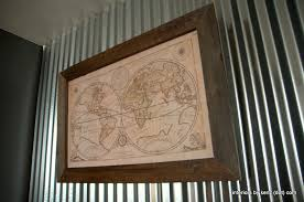 popular posts on wall art old picture frames with diy restoration hardware map frame interiors by kenz