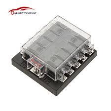 online shop univesal car fuse box 10 way circuit 32v dc waterproof fuse block for boats at Dc Fuse Box