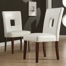 leather side chairs. Alsace White Faux Leather Dining Chairs (Set Of 2) By INSPIRE Q Classic Side