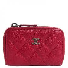 chanel zip coin purse. chanel caviar quilted zip coin purse dark pink chanel h
