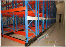 rail guided mobile storage racks warehouse racking shelves for optimizing space