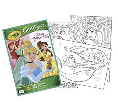 Amazoncom Crayola Giant Coloring Pages Disney Princess Toys Games