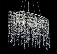Mia A107n Kristall Hänge Leuchte Modern Chrom Pendel Lampe