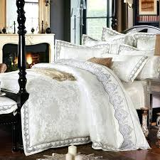 silk luxury bedding 4 6 pieces white jacquard silk cotton luxury bedding set king size t a y silk luxury bedding