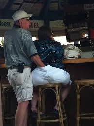 Husband gropes wifes ass in public