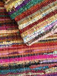 rug 150 x 150. rag rug 90 x 150 close up b