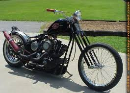 photo of oldschool sportster short chopper with 1980 ironhead