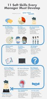 your next seven 11 soft skills every manager must develop 11 soft skills every manager must develop infographic