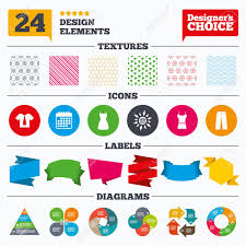 Banner Tags Stickers And Chart Graph Clothes Icons T Shirt