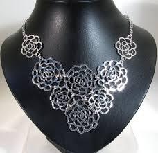 8 open flower necklace flower necklace wn0003 flower necklace wn0003