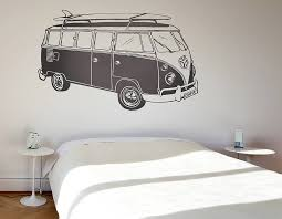 surf style camper van wall sticker