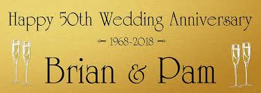 happy anniversary banners golden wedding banner personalised banners