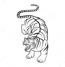 знак тигра тату татуировка тигра векторное изображение