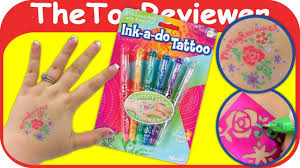 Ink A Do Tattoo Glitter Gel Pens Toysmith Ink A Do Temporary Unboxing Toy Review By Thetoyreviewer
